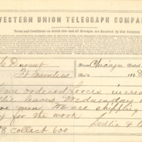 Ledlie and Course correspondence with T.C. Durant regarding bridge construction, 1868