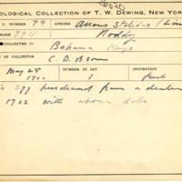 Thomas Wilmer Dewing, egg card # 060