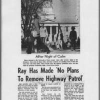"1971-05-13 Iowa City Press-Citizen Article: """"Ray Has Made 'No Plans To Remove Highway Patrol'"""""