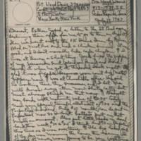 1943-07-14 Laura Davis to Lloyd Davis Page 1