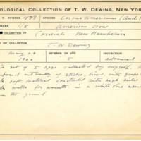 Thomas Wilmer Dewing, egg card # 393