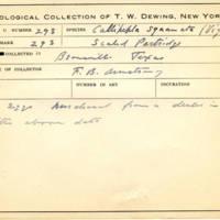 Thomas Wilmer Dewing, egg card # 190
