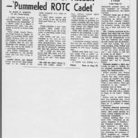 """1971-03-27 Iowa City Press-Citizen Article: """"""""Coed Convicted of Assault --'Pummeled ROTC Cadet'"""""""""""