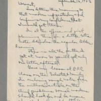 1942-09-16 Laura Davis to Lloyd Davis Page 1