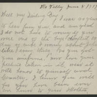 Francis McDermott correspondence, June 1917