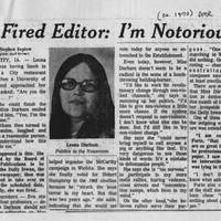 "Des Moines Register Article: ""Fired Editor: I'm Notorious"""