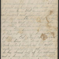 1896-08-16 Letter from Mary Bentley Page 1