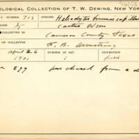Thomas Wilmer Dewing, egg card # 817u