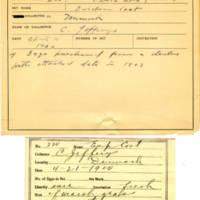 Thomas Wilmer Dewing, egg card # 162