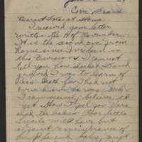 1919-01-25 Thomas Messenger to Mr. & Mrs. N.H. Messenger Page 1
