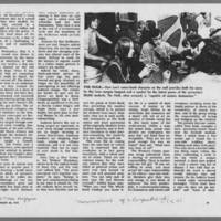 """1972-01-30 New York Times Magazine Article: """"""""Metamorphosis Of A Campus Radical"""""""" Page 11"""