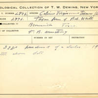 Thomas Wilmer Dewing, egg card # 189