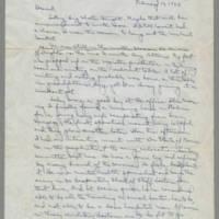 1943-02-10 Laura Davis to Lloyd Davis Page 1