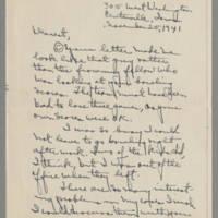 1941-11-25 Laura Davis to Lloyd Davis Page 1
