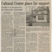 "2005-02-25 Iowa City Press-Citizen Article: ""Cultural Center place for support"""