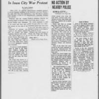 "1971-05-06 Des Moines Register Articles: """"Window-Smashing Spree In Iowa City War Protest"""" """"No Action By Nearby Police"""""