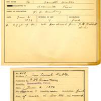 Thomas Wilmer Dewing, egg card # 521