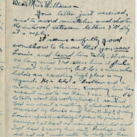 Robert Morriss Browning correspondence to Mabel C. Williams, October 1917