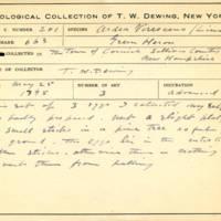 Thomas Wilmer Dewing, egg card # 147