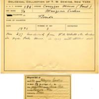 Thomas Wilmer Dewing, egg card # 270