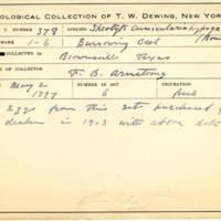 Thomas Wilmer Dewing, egg card # 263