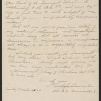 Pearl H. Baumeister to Mrs. Whitley Page 2