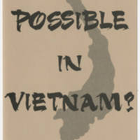 "1966-03-01 """"Is Peace Possible In Vietnam?"""" by Dr. Tran Van Chuong Page 1"