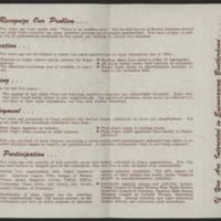 "1954-02-21 """"Progress Report Of The Human Relations of Burlington"""" - Back"