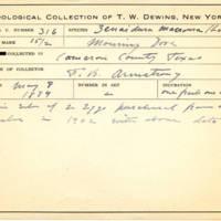 Thomas Wilmer Dewing, egg card # 206