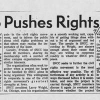 "1966-09-19 Article: ""Group Pushes Rights Work"""
