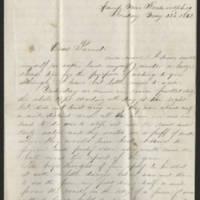 1862-05-25 William E. Thorpe to Alfred Thorpe Page 1