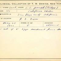 Thomas Wilmer Dewing, egg card # 762u