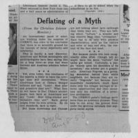 "1950-08-08 Des Moines Register Article: ""Deflating of a Myth"""