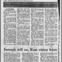 """1972-05-12 Daily Iowan Article: """"""""Protesters block I-80"""""""" Page 3"""