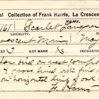Frank Harris, egg card # fh003u
