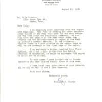 Kingsley M. Clarke correspondence regarding Nile Kinnick - Bob Feller Historical Marker dedication program, 1964