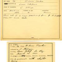 Thomas Wilmer Dewing, egg card # 476