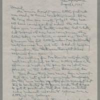 1945-08-06 Laura Davis to Lloyd Davis Page 1
