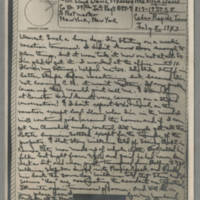1943-07-08 Laura Davis to Lloyd Davis Page 1