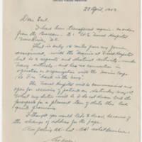 1943-04-28 Cmdr. Roy M. Mayne to Mr. W. Earl Hall