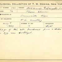 Thomas Wilmer Dewing, egg card # 701u