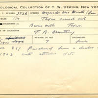 Thomas Wilmer Dewing, egg card # 253