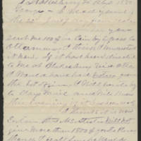S. G. Finney letters to his son George, 1880-1886