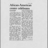 "1993-10-04 Iowa City Press-Citizen Article: ""African-American center celebrates"""