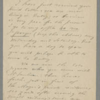 1918-06-10 Correspondence from A. Coulon Page 1