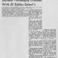 "1971-04-10 Iowa City Press-Citizen Article: ""Durham Philosophy Clashes With DI Editor-Select's"""