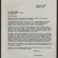 1947-10-07 Dorothy Schramm to Mr. Forest Seymour