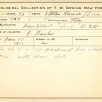 Thomas Wilmer Dewing, egg card # 054