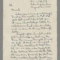 1942-08-23 Laura Davis to Lloyd Davis Page 1