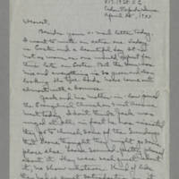 1943-04-25 Laura Davis to Lloyd Davis Page 1
